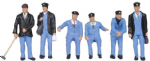 Bachmann Scenecraft 36-407 OO 1950's Train Crew (6)